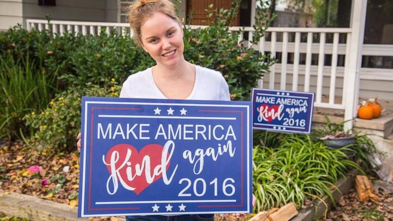 Mom Creates 'Make America Kind Again' Signs to Promote Unity in Election Strife