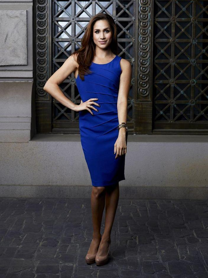 <p>In a promotional picture for <em>Suits</em> Season 2. </p>