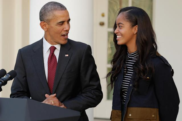 """Barack Obama said he's """"pretty relaxed"""" about his daughters dating [Photo: Getty]"""