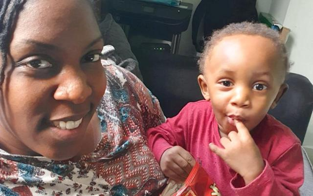 Lenesha Riley, 33, flew from Luton to Berlin with easyJet using her toddler son Josiah's passport after she packed it by mistake and used it to board a flight (Picture: SWNS)