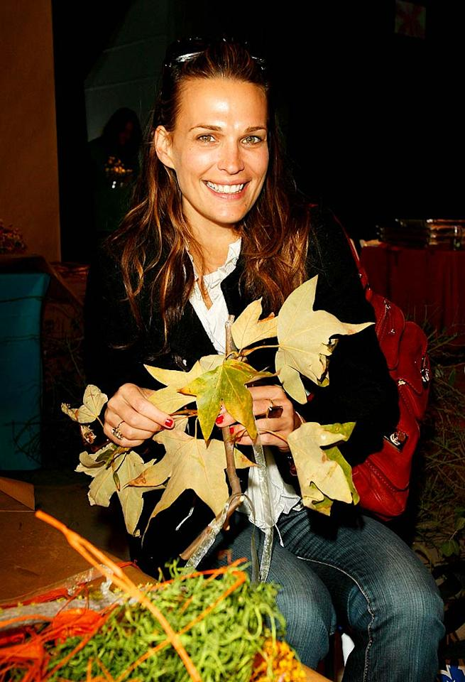 "Molly Sims gets leafy with it. Donato Sardella/<a href=""http://www.wireimage.com"" target=""new"">WireImage.com</a> - November 4, 2007"