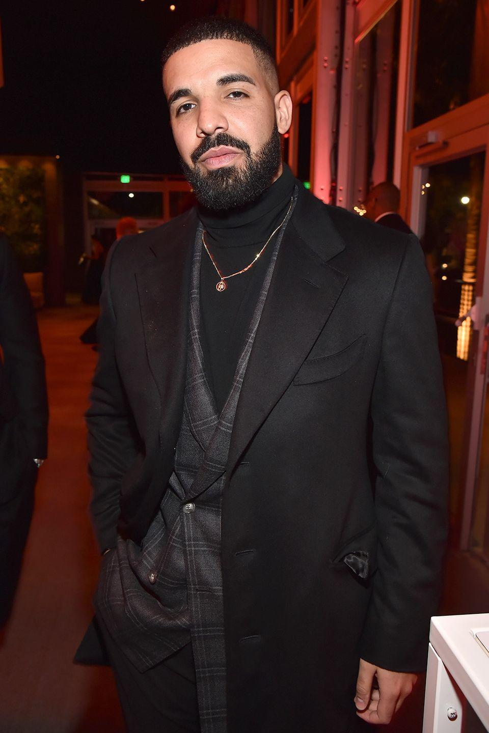 """<p><strong>Born</strong>: Aubrey Drake Graham </p><p>In the early aughts, the actor-turned-rapper starred in the Canadian high school drama TV series <em>Degrassi: The Next Generation</em>, where he was known as Aubrey Graham. <a href=""""https://metro.co.uk/2018/04/07/drakes-age-net-worth-real-name-biggest-tracks-7448162/"""" rel=""""nofollow noopener"""" target=""""_blank"""" data-ylk=""""slk:In 2006"""" class=""""link rapid-noclick-resp"""">In 2006</a>, when he started pursuing a rap career, he dropped the Aubrey and started going by Drake.</p>"""