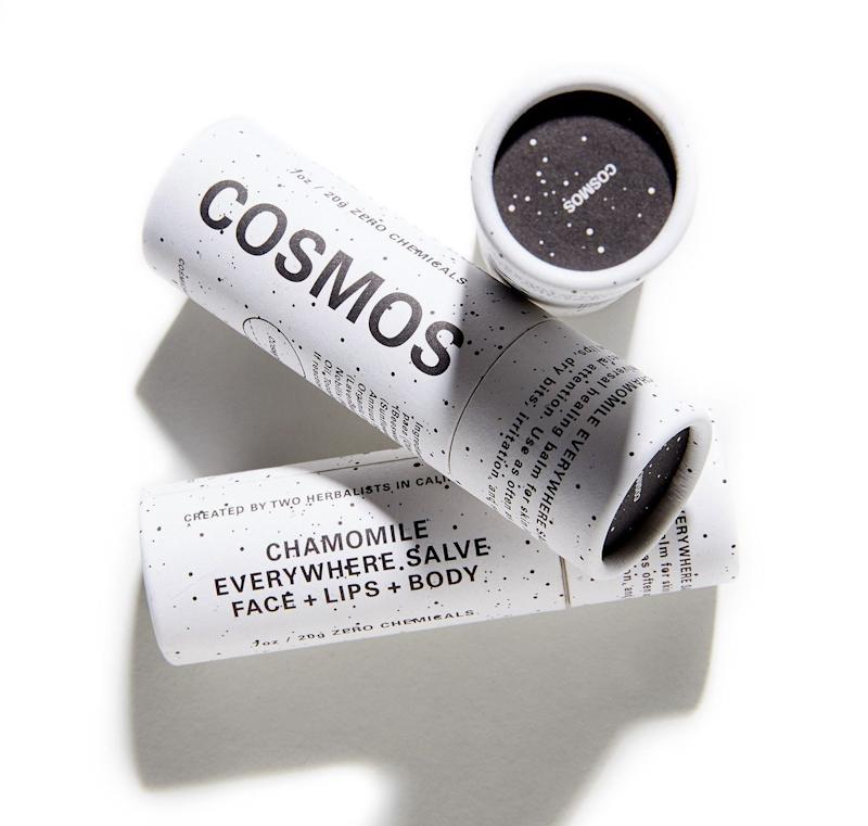 """<a href=""""https://www.cosmosbotanicals.com/"""" target=""""_blank"""">Cosmos</a> products are created with 100 percent plant-based ingredients, which the company says are&nbsp;completely safe for your body and the planet. The brand also uses reusable, compostable and recyclable containers to cut down on waste, and it doesn't test&nbsp;its products on animals.&nbsp;<br /><br /><strong>Shop Cosmos <a href=""""https://www.cosmosbotanicals.com/"""" target=""""_blank"""">here</a>.&nbsp;</strong>"""