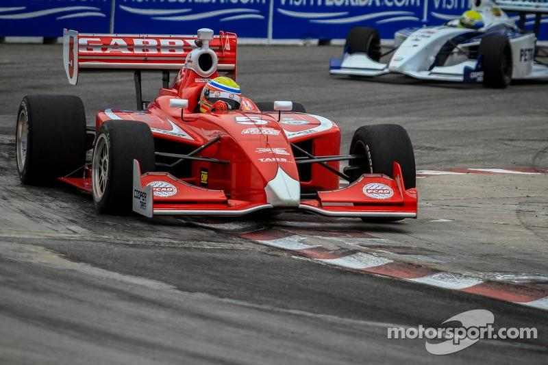 """Gabby Chaves heading to the 2014 Indy Lights championship.<span class=""""copyright"""">Rebecca McKay</span>"""