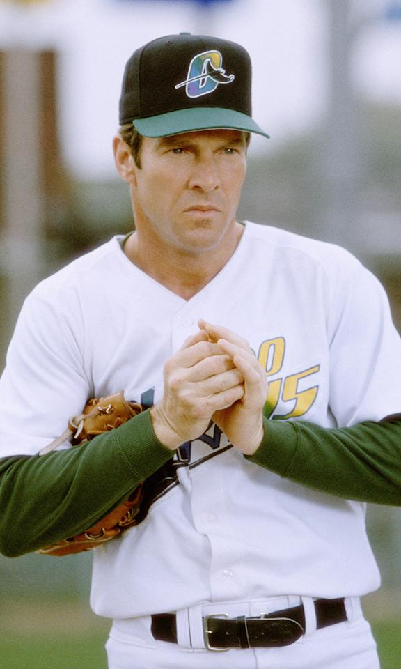 "<a href=""http://movies.yahoo.com/movie/1807616825/info"">THE ROOKIE</a>  Based on: the life of Jim Morris, the baseball player (not Jim Morrison, the rock star)    Jim Morris proved that in spite of being a bit long in the tooth (he was 35) and being a married man with three children, it's not too late to pursue dreams of Major League baseball glory."
