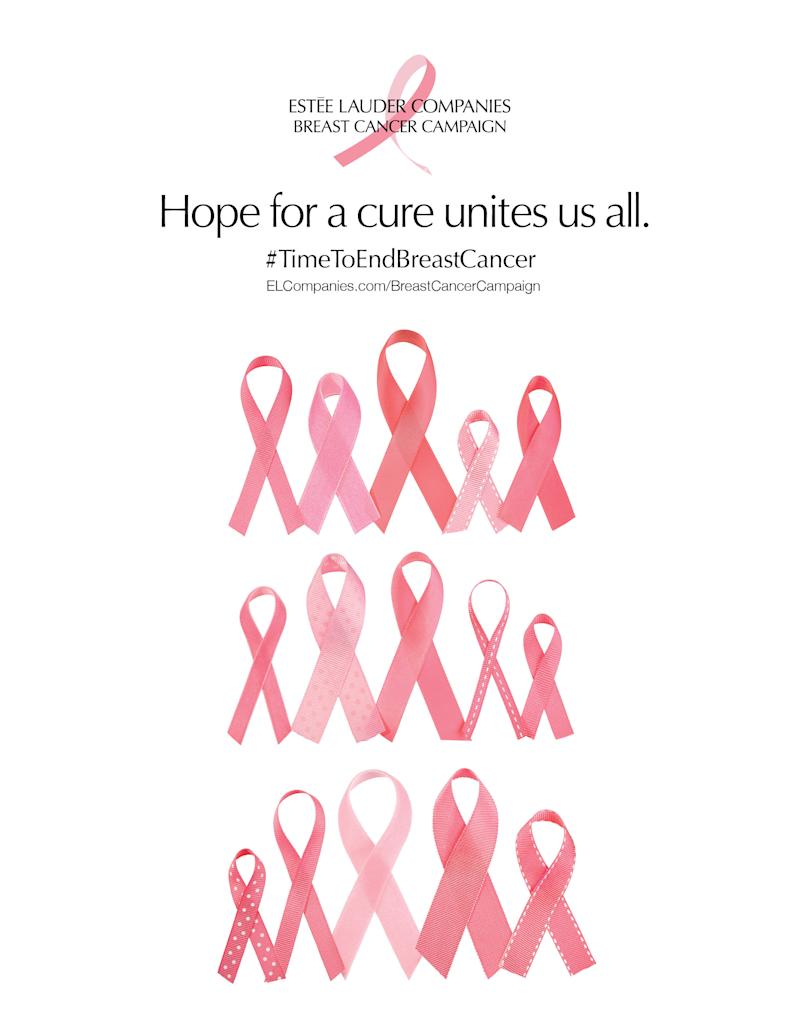 Image result for estee lauder breast cancer campaign