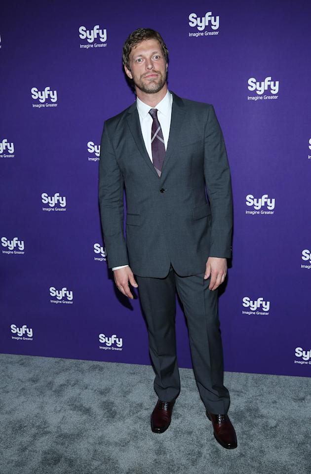 "NEW YORK, NY - APRIL 10:  Adam Copeland of ""Haven"" attends Syfy 2013 Upfront at Silver Screen Studios at Chelsea Piers on April 10, 2013 in New York City.  (Photo by Rob Kim/Getty Images)"