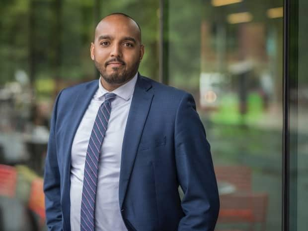 Lawyer Brandon Rolle argued the Rakeem Rayshon Anderson appeal case on behalf of intervenor African Nova Scotia Decade for People of African Descent Coalition. (Nova Scotia Legal Aid - image credit)