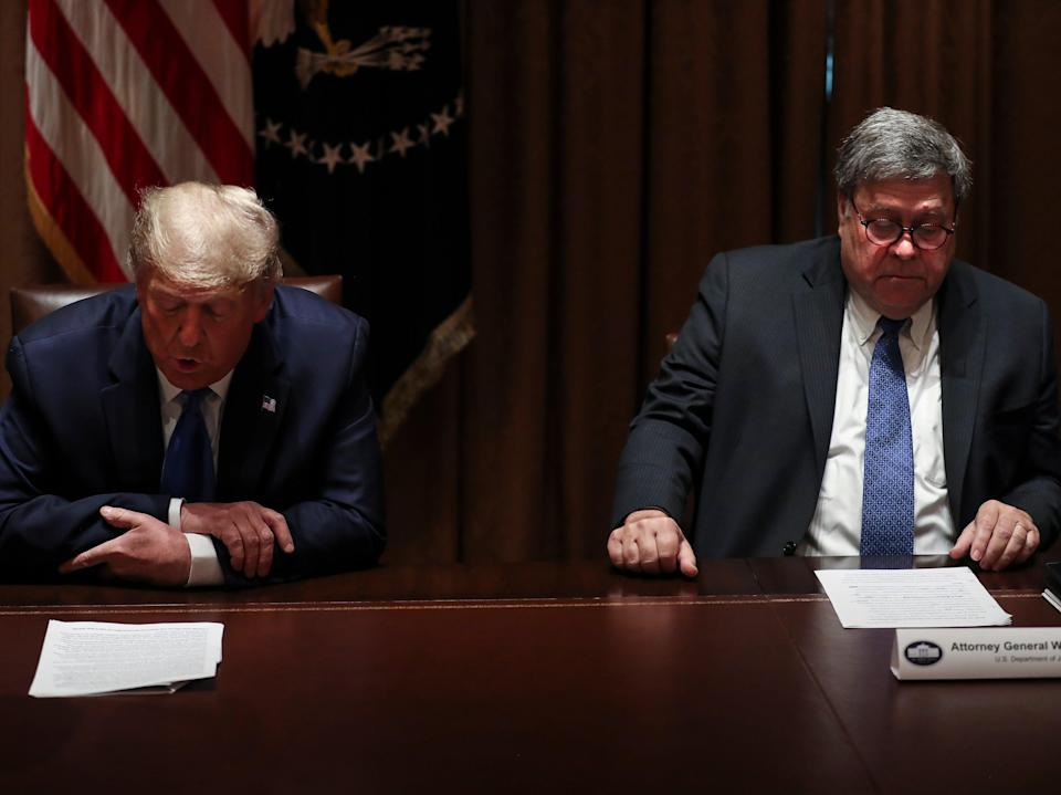 Donald Trump and attorney general Bill Barr (Getty Images)