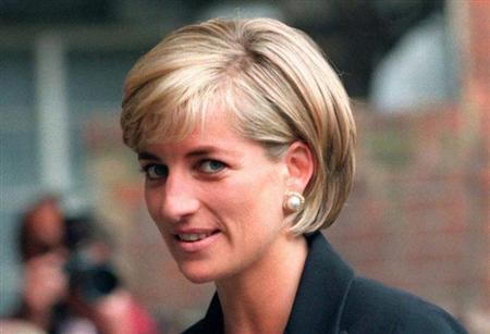 Princess Diana arrives at the Royal Geographical Society in London