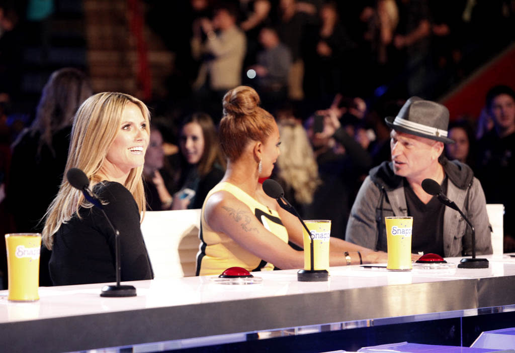 AMERICA'S GOT TALENT -- New Orleans Auditions -- Pictured: (l-r) Heidi Klum, Mel B, Howie Mandel