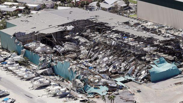 PHOTO: A roof collapses following Hurricane Michael on Oct. 11, 2018, in Panama City Beach, Fla.  (Chris O'Meara-Pool/Getty Images)