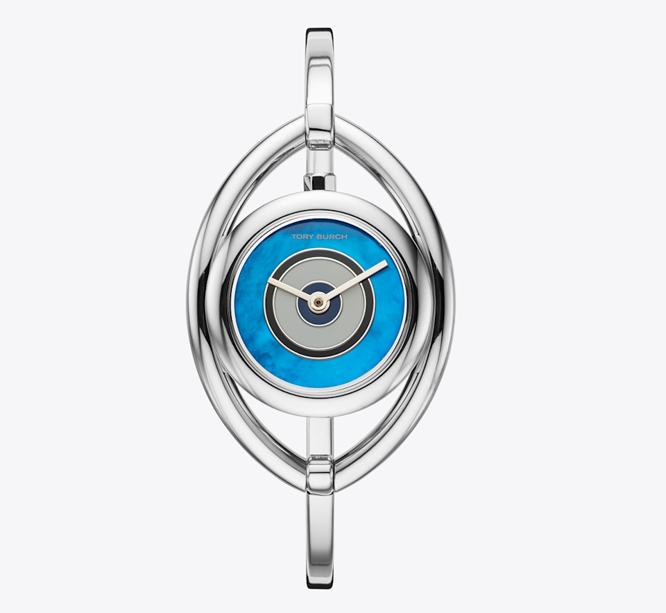 "<br> <br> <strong>Tory Burch</strong> Evil Eye Bangle Watch, $, available at <a href=""https://go.skimresources.com/?id=30283X879131&url=https%3A%2F%2Fwww.toryburch.com%2Fevil-eye-bangle-watch--stainless-steel%252Fivory--25-mm%2FTBW5003.html"" rel=""nofollow noopener"" target=""_blank"" data-ylk=""slk:Tory Burch"" class=""link rapid-noclick-resp"">Tory Burch</a>"