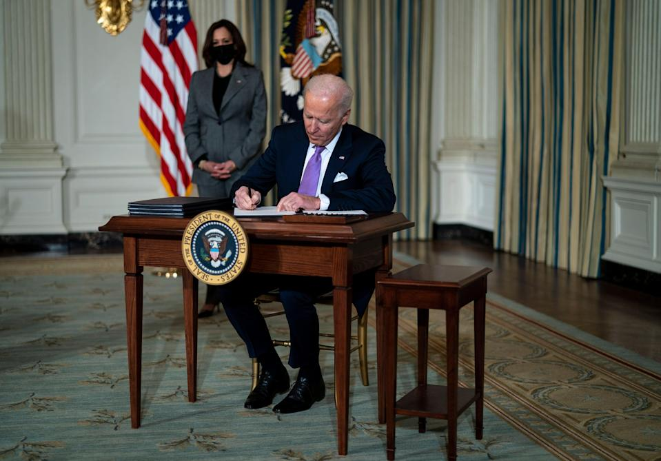 <p>Thanks to the Democrats' surprise victory in the two Georgia Senate run-offs races earlier this month Joe Biden has an opportunity to change US tax policy</p> (EPA)