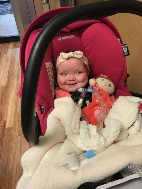 PHOTO: Joy Day is seen on Oct. 28, the day she was discharged from the NICU at MU Women's and Children's Hospital in Columbia, Missouri. (Amber Day)