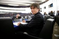 Former member of the Catalan government Puigdemont attend his first plenary session as member of the European Parliament in Strasbourg