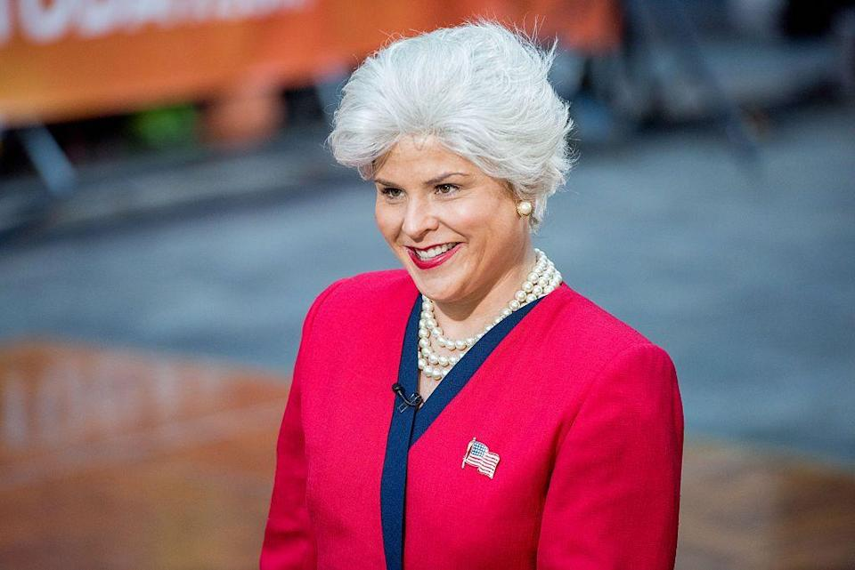 <p>There's so much inspo when your relatives are icons. One year, the <em>Today</em> host wore a gray wig, pearls, and American flag pin to dress as her beloved grandma for Halloween. </p>
