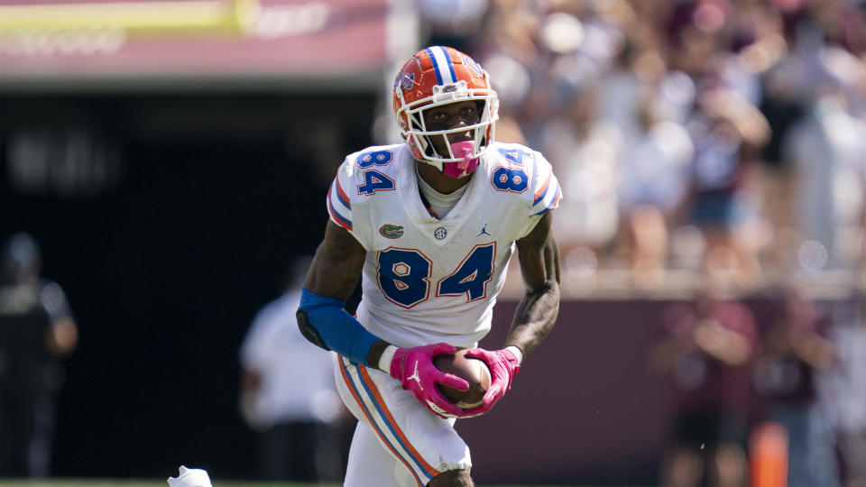 Florida TE Kyle Pitts has All-Pro potential. (AP Photo/Sam Craft)
