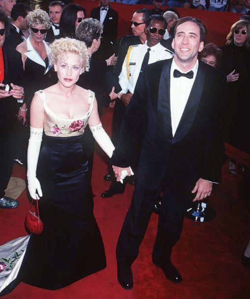 PHOTO: Patricia Arquette and Nicolas Cage arrive for the 69th Annual Academy Awards at Shrine Auditorium in Los Angeles, March 24, 1997. (WireImage via Getty Images, FILE)