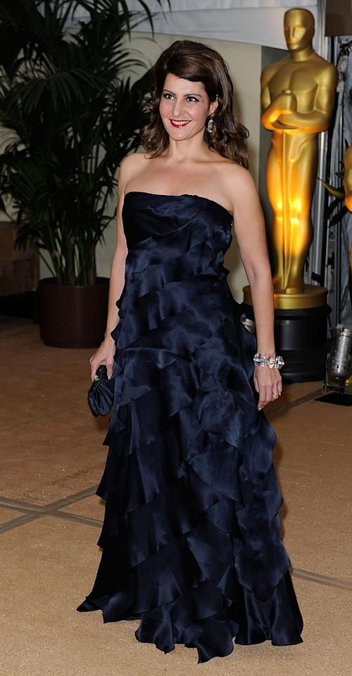 """<a href=""""http://movies.yahoo.com/movie/contributor/1804536542"""">Nia Vardalos</a> at the Academy of Motion Picture Arts and Sciences' Inaugural Governors Awards - 11/14/2009"""