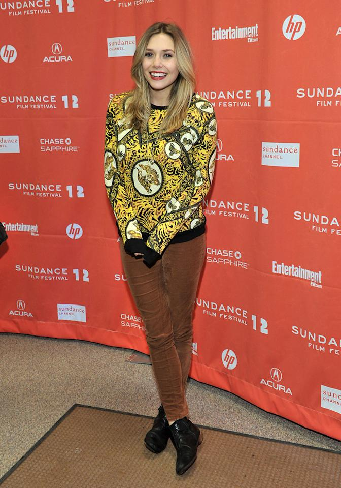 "Elizabeth Olsen at the 2012 Sundance Film Festival premiere of ""Liberal Arts"" on January 22, 2012.<br>"
