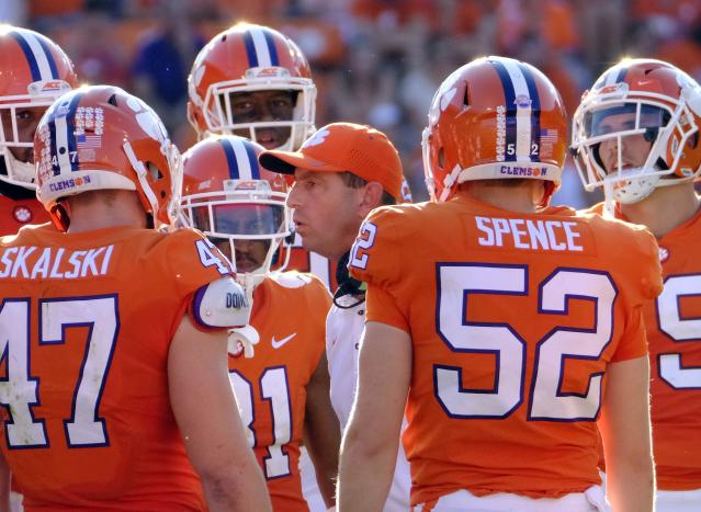 Clemson was wrapping up practice when they heard a crash happen near the facility. (Getty)