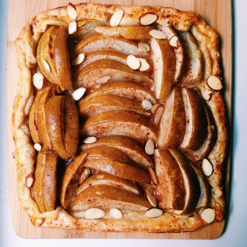 """<p>A galette is a French term for a flat, round, pie-like pastry. They can be sweet or savory and are sure to please and not to mention a cinch to make. All you need is store-bought pie crust and your fruit of choice to make this beautiful fall dessert. <a href=""""https://www.yahoo.com/food/this-insanely-easy-fruit-galette-will-make-you-145737275.html"""" data-ylk=""""slk:Get the Pear Galette recipe;outcm:mb_qualified_link;_E:mb_qualified_link;ct:story;"""" class=""""link rapid-noclick-resp yahoo-link""""><b>Get the Pear Galette recipe</b></a>. (<i>Photo: Gillie Houston)</i></p>"""