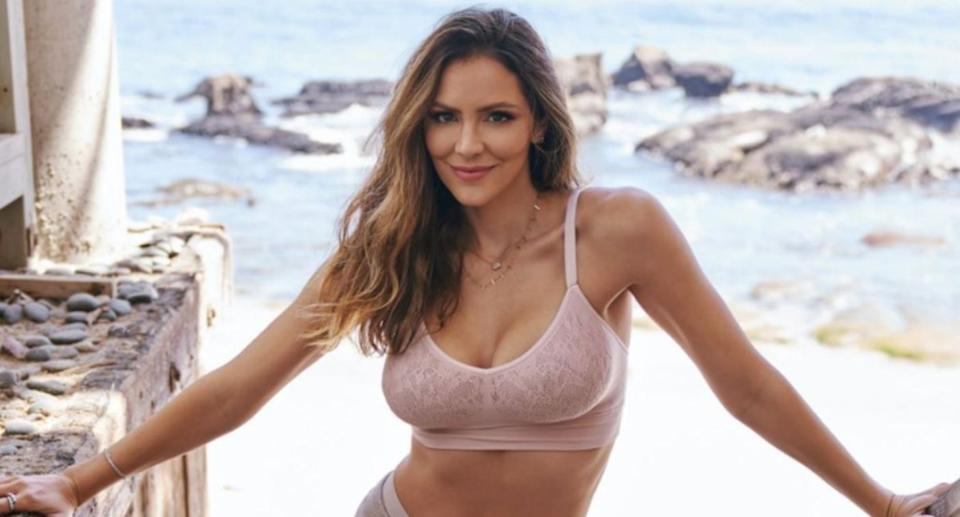 Katharine McPhee Foster announced her latest collaboration, a capsule collection with MINDD. (Image via Instagram/KatharineMcPhee Photo by Riker Brothers).