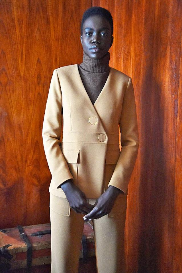 <p>A model sported her mini Afro for the collection. (Photo: Getty Images) </p>
