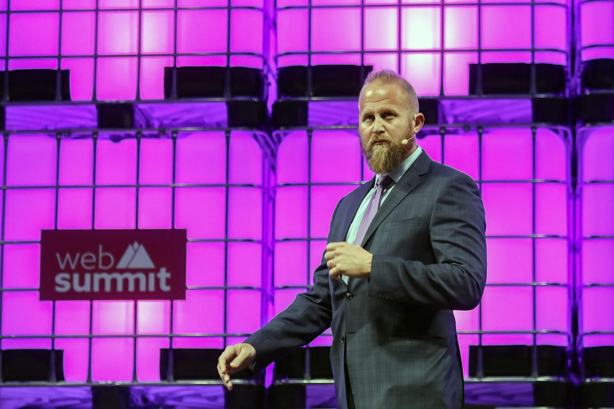 Brad Parscale, the Trump campaign's digital media director, arrives to speak on the third day of the 7th Web Summit in Lisbon, Portugal, Nov. 8, 2017. (Photo: Miguel A. Lopes/EPA-EFE/REX/Shutterstock)