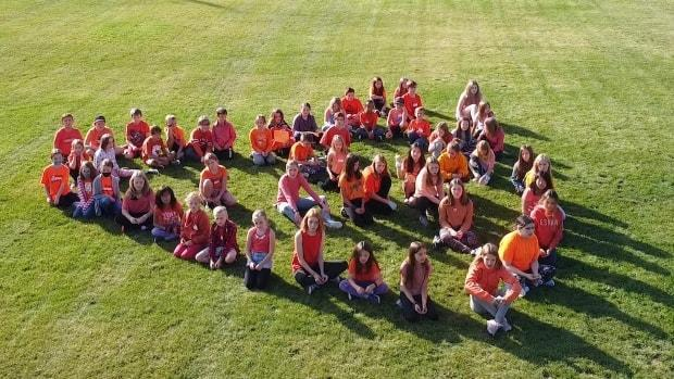 On the occasion of the first National Day for Truth and Reconciliation, students from Grades 4-7 from Kidston Elementary School in Coldstream, B.C., sang a version of Blackbird in the Mi'kmaw language. (Inspire Kindness Productions - image credit)