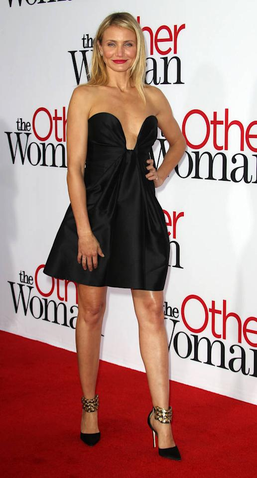 Where does she keep getting these dresses from?! Cameron Diaz seems to have a never-ending supply of sizzling LBDs