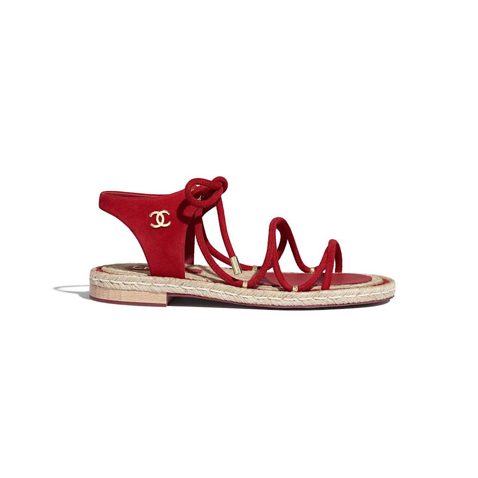 <p>Like the French Riviera in a shoe. </p><p>Chanel sandals, $900, available at select CHANEL Boutiques Nationwide. For more information, please call (800) 550 0005.<br></p>