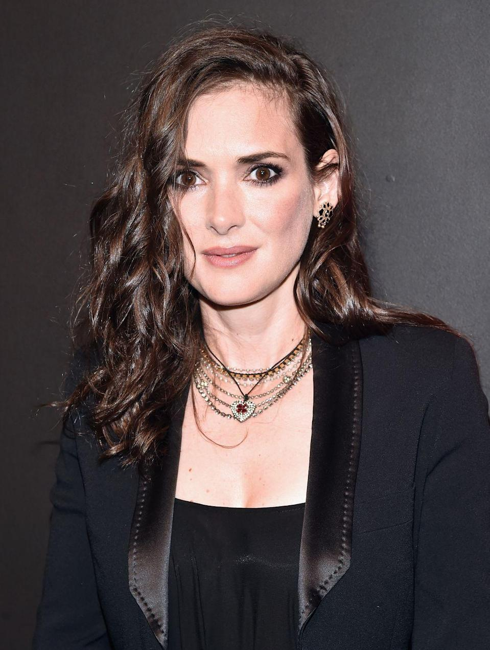 """<p><strong>Real name: </strong>Winona Laura Horowitz</p><p>Winona chose to go by Ryder on a whim. She was asked what name she'd like on the credits of her first role in film, and <a href=""""https://people.com/movies/celebrities-who-changed-their-names/?slide=5603476#5603476"""" rel=""""nofollow noopener"""" target=""""_blank"""" data-ylk=""""slk:Mitch Ryder's album was playing"""" class=""""link rapid-noclick-resp"""">Mitch Ryder's album was playing</a> in the background. So, she went with that!</p>"""