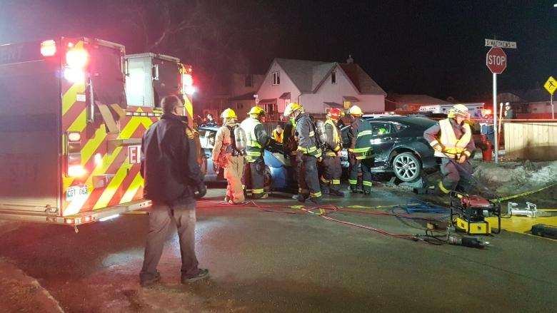1 person taken to hospital after 3-vehicle crash in Winnipeg