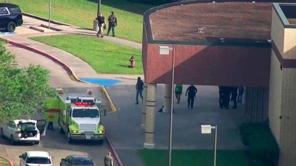 PHOTO: A shooting was reported at Santa Fe High School, May 18, 2018, in Santa Fe, Texas. (KTRK-TV ABC13 via AP)