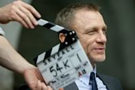 """Daniel Craig on the set of Columbia Pictures' """"Skyfall"""" - 2012"""