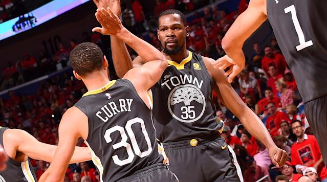 When the Warriors are paying attention, they're capable of dominating to a degree we've never really seen before. And when Kevin Durant is on, he makes Golden State downright impossible.
