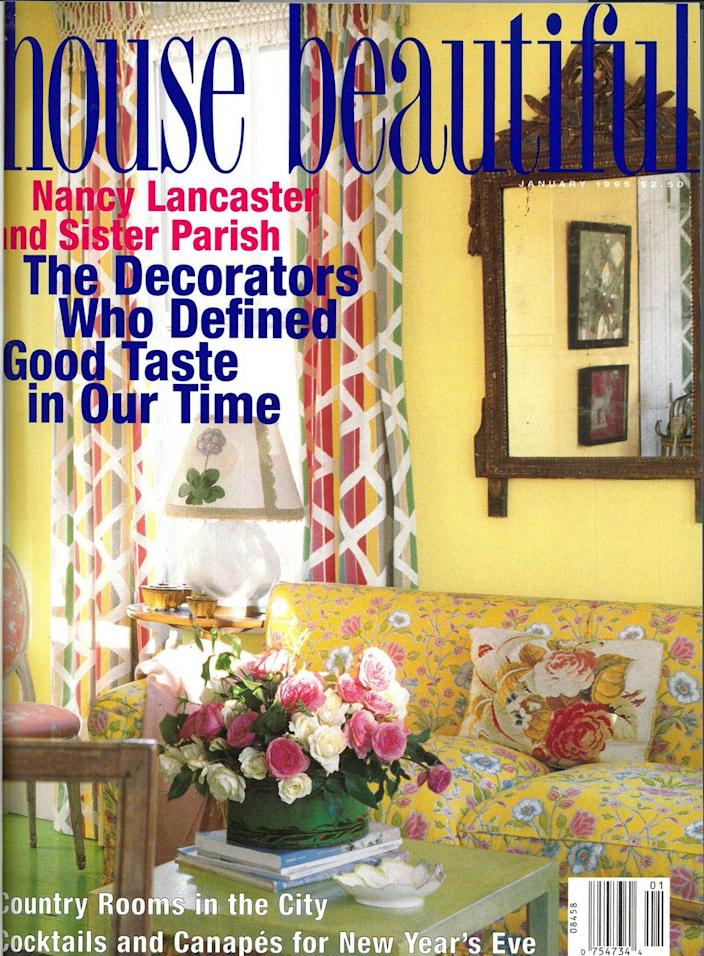 """<p>The floral print certainly screams nineties sofa, but it's a trend you still see today. <a href=""""https://www.housebeautiful.com/lifestyle/a24184054/nineties-home-trends-survey/"""" rel=""""nofollow noopener"""" target=""""_blank"""" data-ylk=""""slk:Do you like it?"""" class=""""link rapid-noclick-resp"""">Do you like it?</a></p>"""