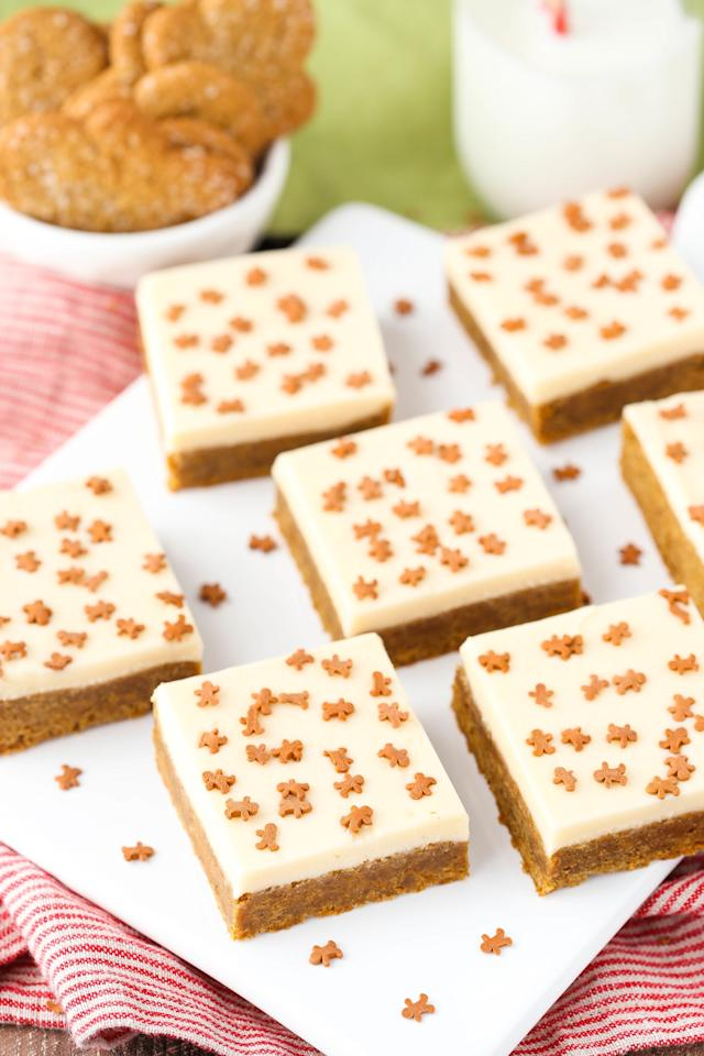 """<p>Gingerbread men can step aside.</p><p>Get the recipe from <a rel=""""nofollow"""" href=""""http://www.delish.com/cooking/recipe-ideas/recipes/a50276/caramel-gingerbread-cookie-bars-recipe/"""">Delish</a>.</p>"""