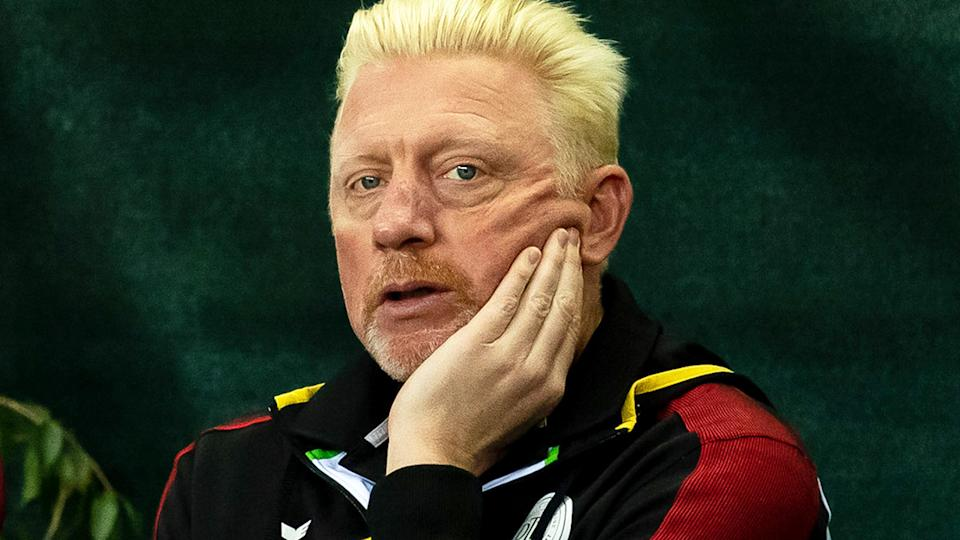 Boris Becker, pictured here during a Davis Cup tie in March.