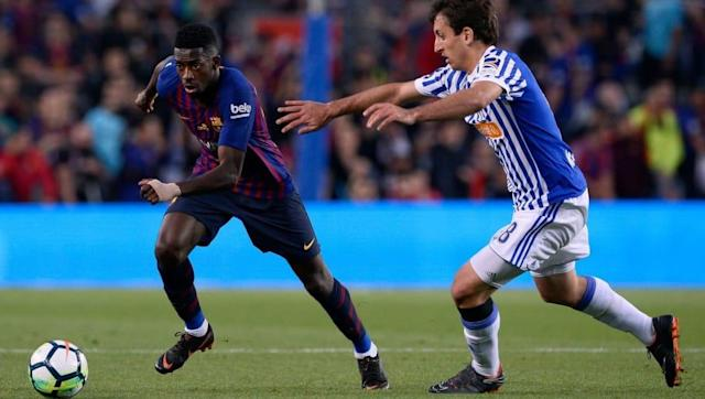 ​Barcelona ace Ousmane Dembele suffered a sprained ankle during his side's season-closing ​1-0 win over Real Sociedad on Sunday evening, the club has confirmed. Philippe Coutinho's wonderstrike from 25 yards proved to be the only goal of the game during an evening dedicated to the departing Andres Iniesta. Iniesta and his theatre #UCL pic.twitter.com/xftMjZFDGq — UEFA Champions League (@ChampionsLeague) May 21, 2018 However, despite the party atmosphere inside the 84,000-strong Camp Nou as...