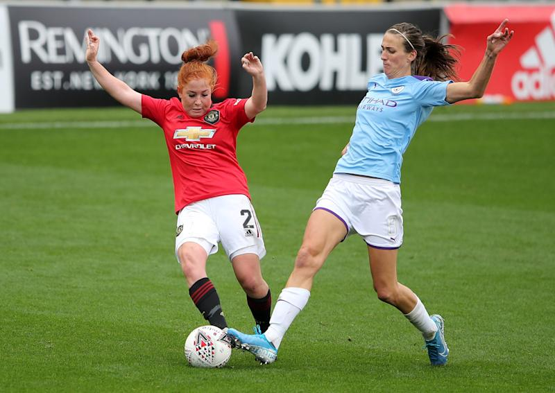 Jill Scott scored as Manchester City knocked United out of the Women's FA Cup Action Images via Reuters/Molly Darlington