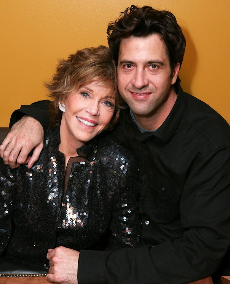 "Cast member Jane Fonda (L) and son Troy Garity (R) pose during the party for the opening night performance of ""33 Variations"" at Center Theatre Group's Ahmanson Theatre on February 9, 2011 in Los Angeles, California. (Photo by Ryan Miller/Getty Images)"