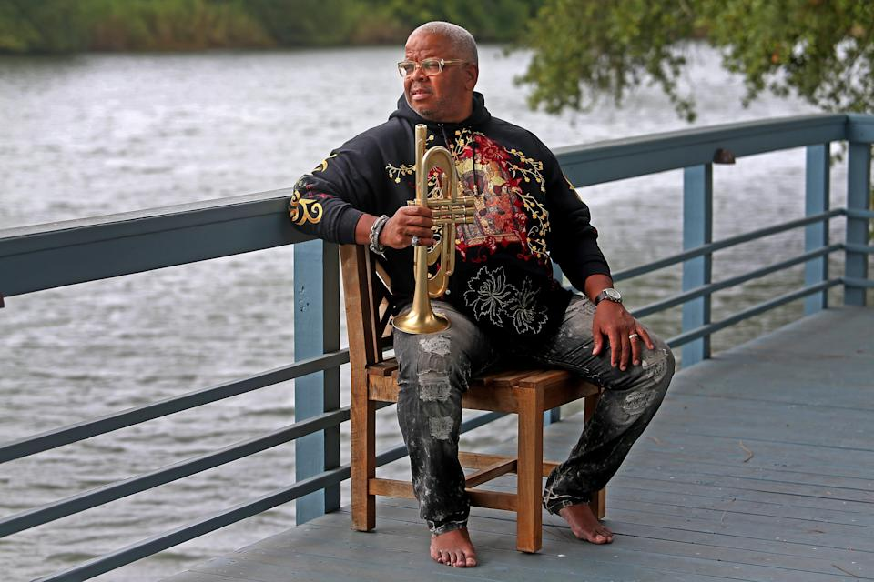 Jazz trumpeter and composer Terence Blanchard at his home on Bayou St. John in New Orleans. Photographed on Wednesday, September 16, 2020.