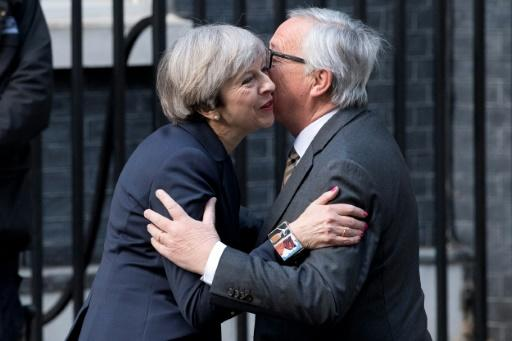 May mit Juncker in London