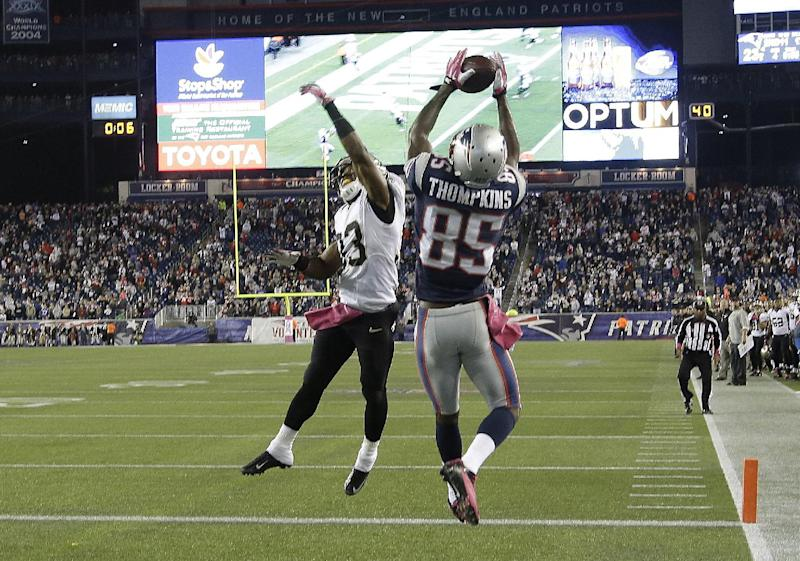 Patriots' Thompkins stayed calm for winning catch