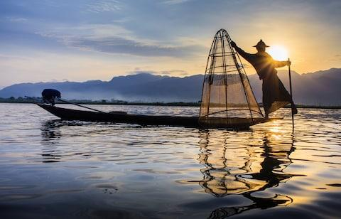 A fisherman on Inle Lake - Credit: getty