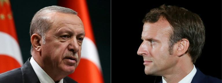 "Ties between President Erdogan and EU leaders such as President Macron of France -- whom he last year told not to ""mess"" with Ankara -- have been badly strained in recent years"