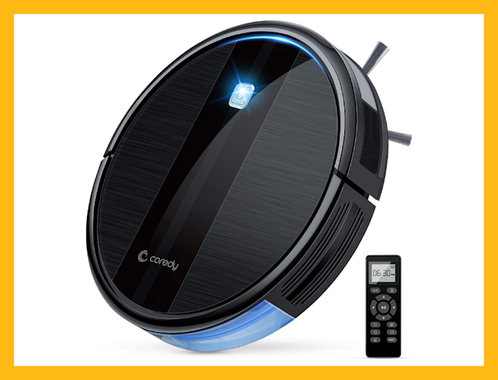 Save nearly $50 on this top-rated Coredy Robot Vacuum Cleaner. (Photo: Amazon)